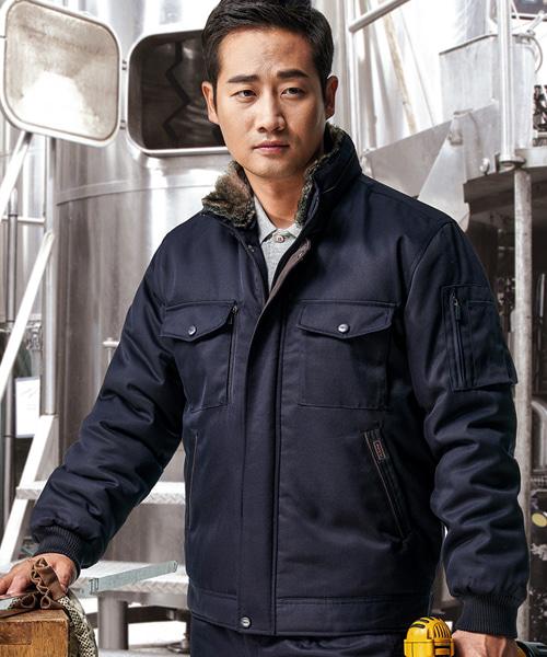 PV-WM-J1303 패딩작업복(동복:털에리탈부착)