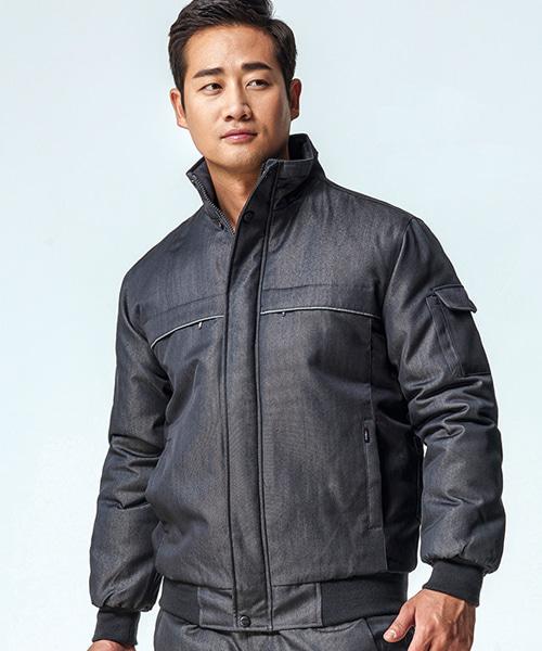 PV-WM-J704 진패딩작업복(동복:그레이진)