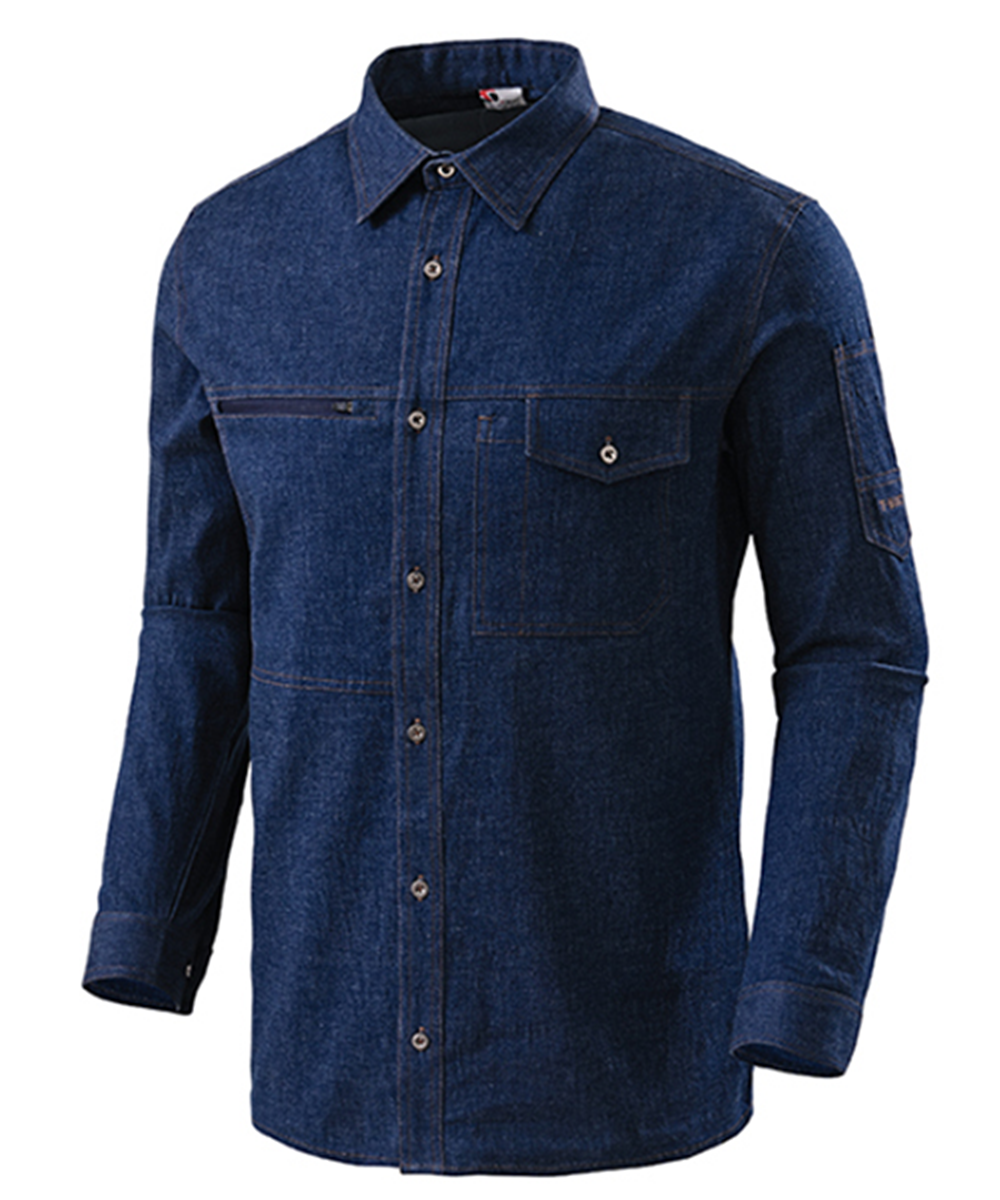 TB-19-15J 블루진 스판 셔츠(워싱제품:블루)
